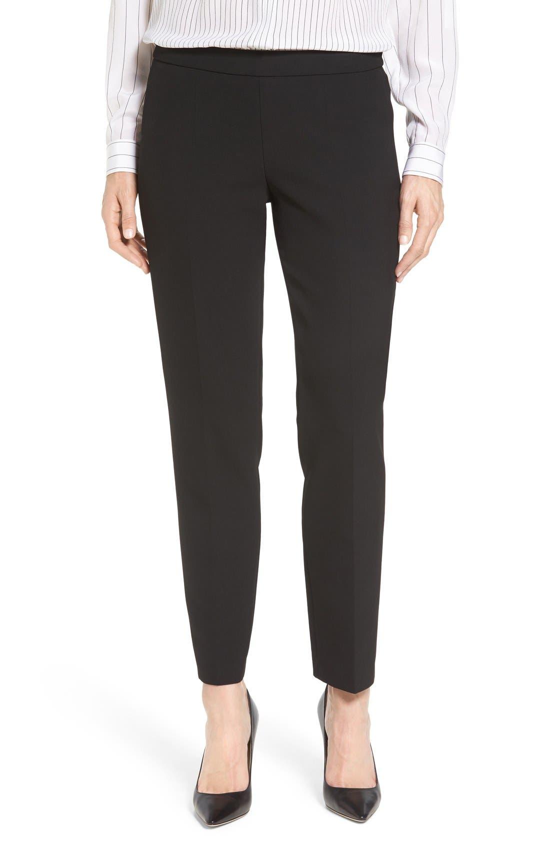 BOSS 'Tiluna' Slim Leg Ankle Trousers (Regular & Petite)