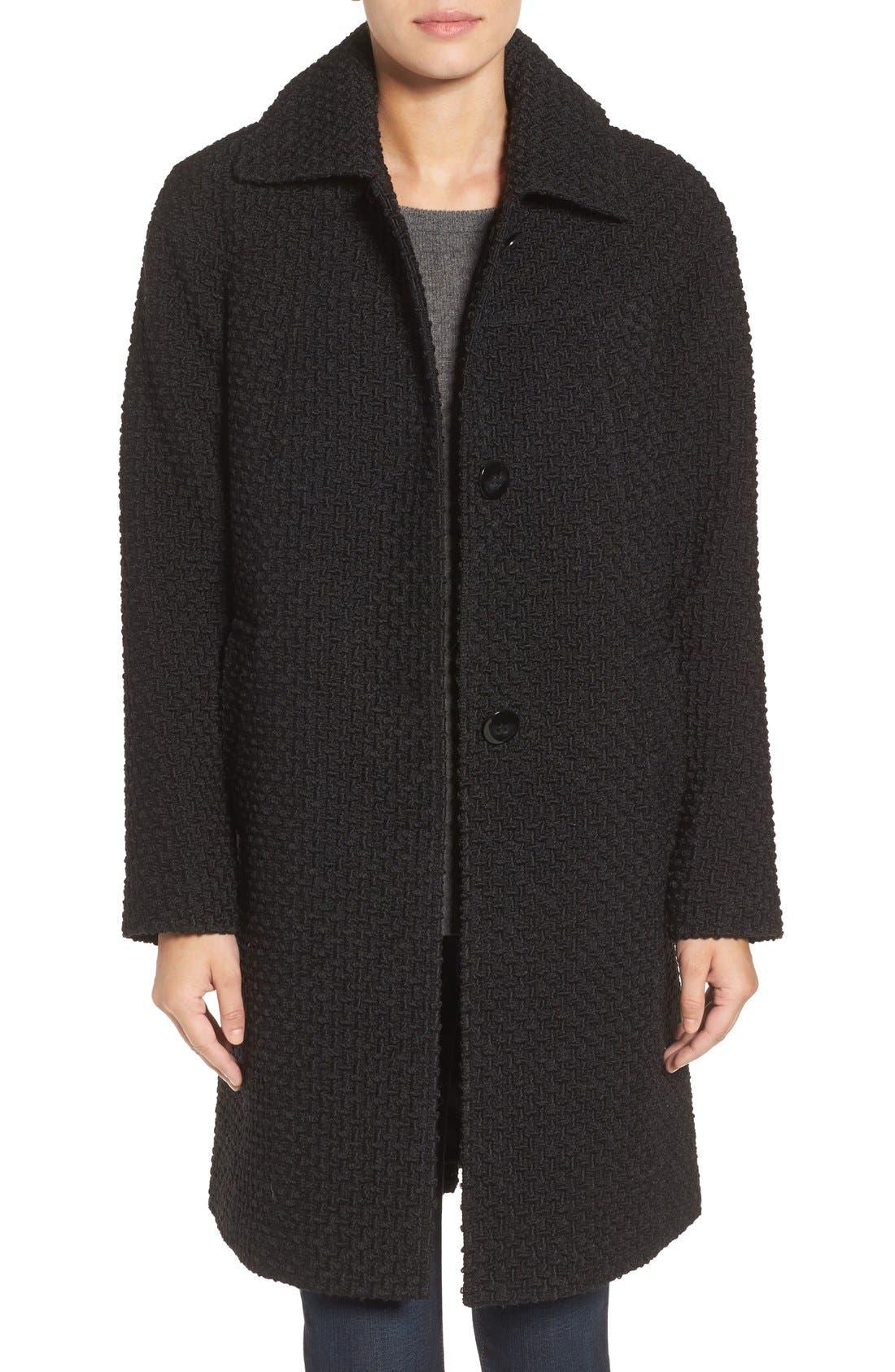 Gallery Basket Weave Three Quarter Coat (Regular & Petite)