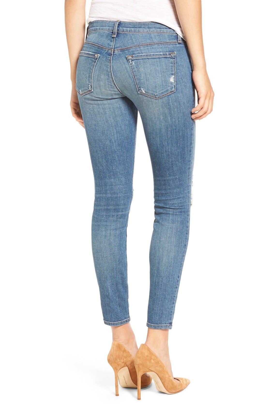 Alternate Image 2  - J Brand Ripped Crop Skinny Jeans (Mischief)