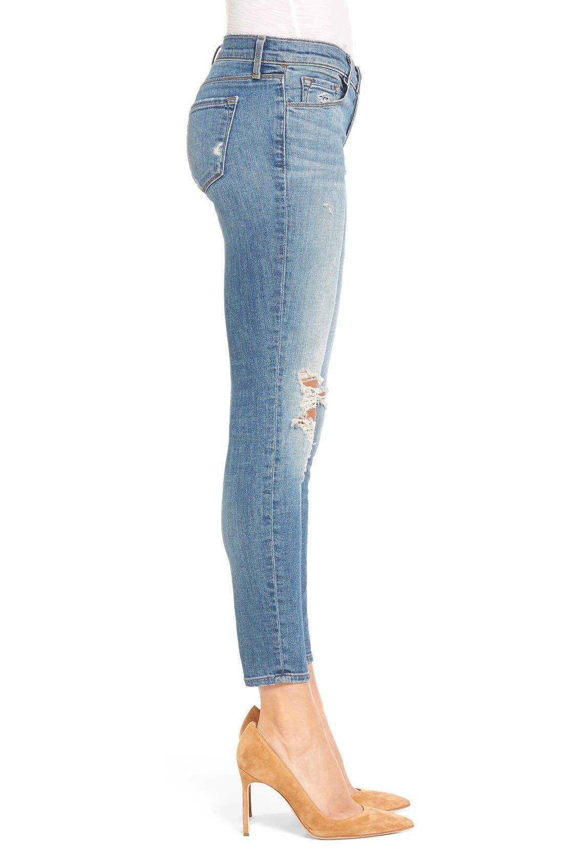 Alternate Image 3  - J Brand Ripped Crop Skinny Jeans (Mischief)