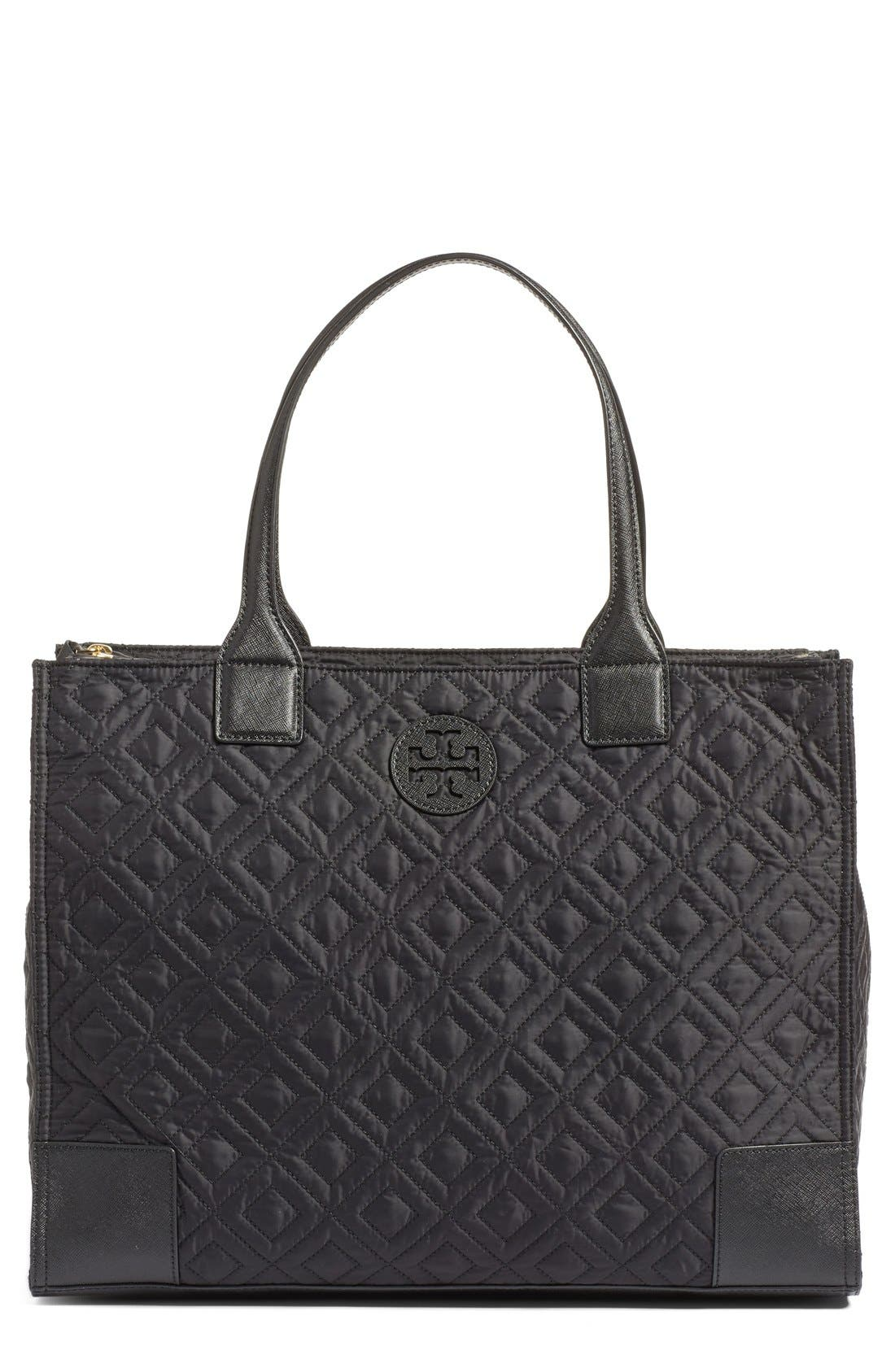 Main Image - Tory Burch 'Ella' Packable Quilted Nylon Tote