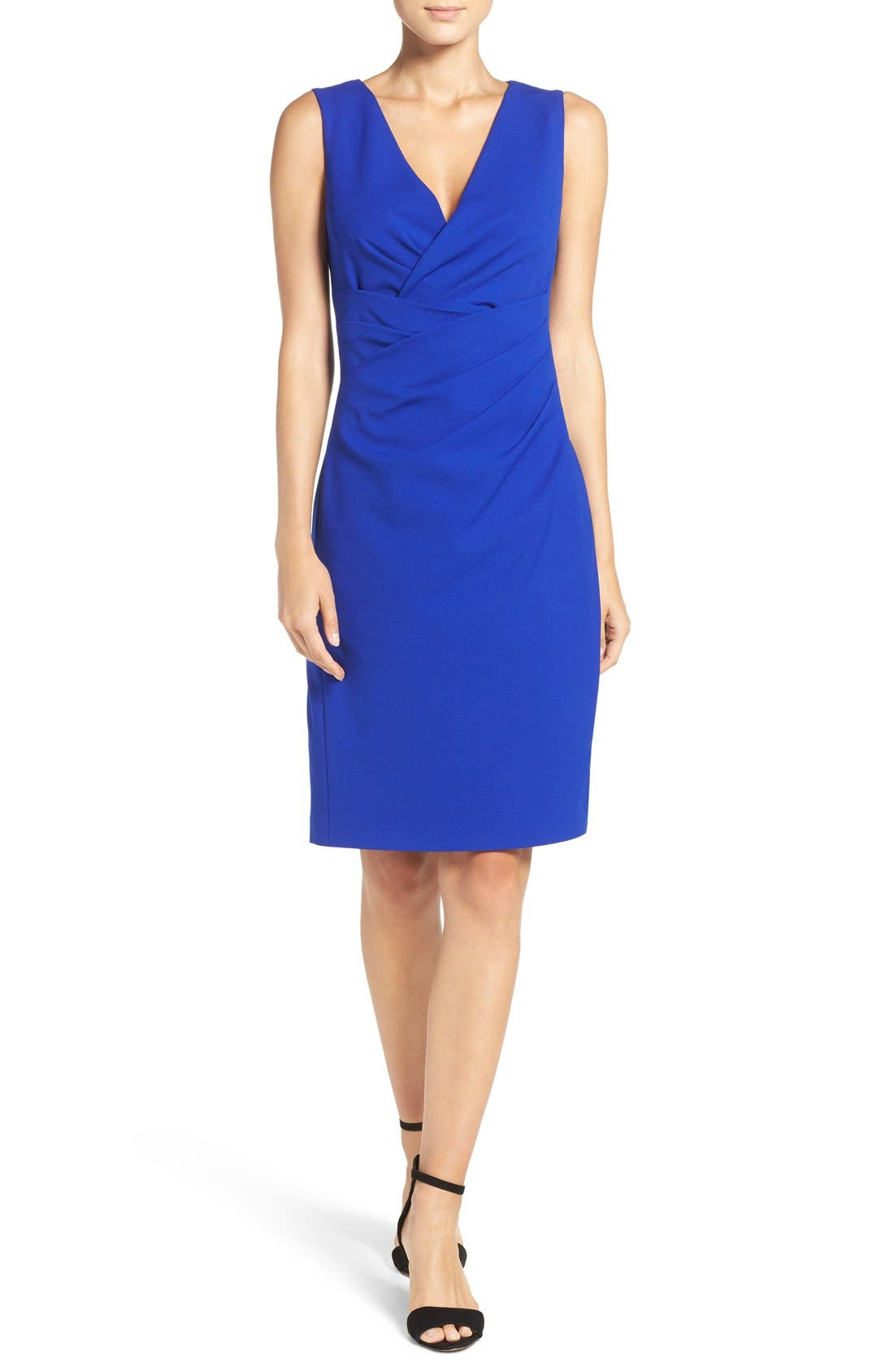 Alternate Image 6  - Betsey Johnson Gathered Crepe Sheath Dress