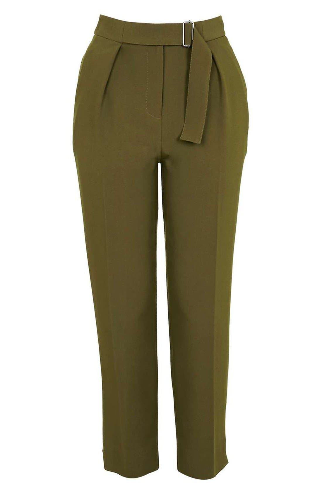 Alternate Image 4  - Topshop Slider Utility Peg Trousers (Regular & Petite)