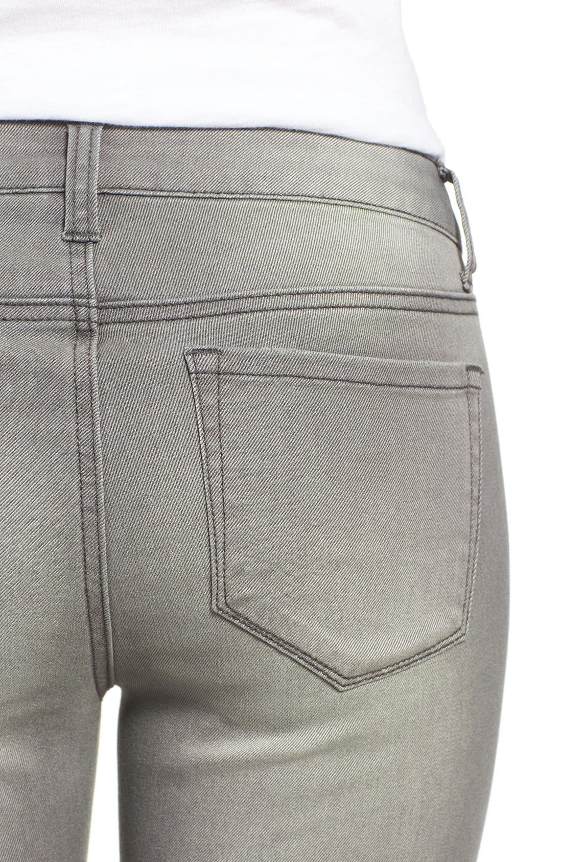 Alternate Image 4  - Dex Distressed Biker Skinny Jeans (Faded Grey)