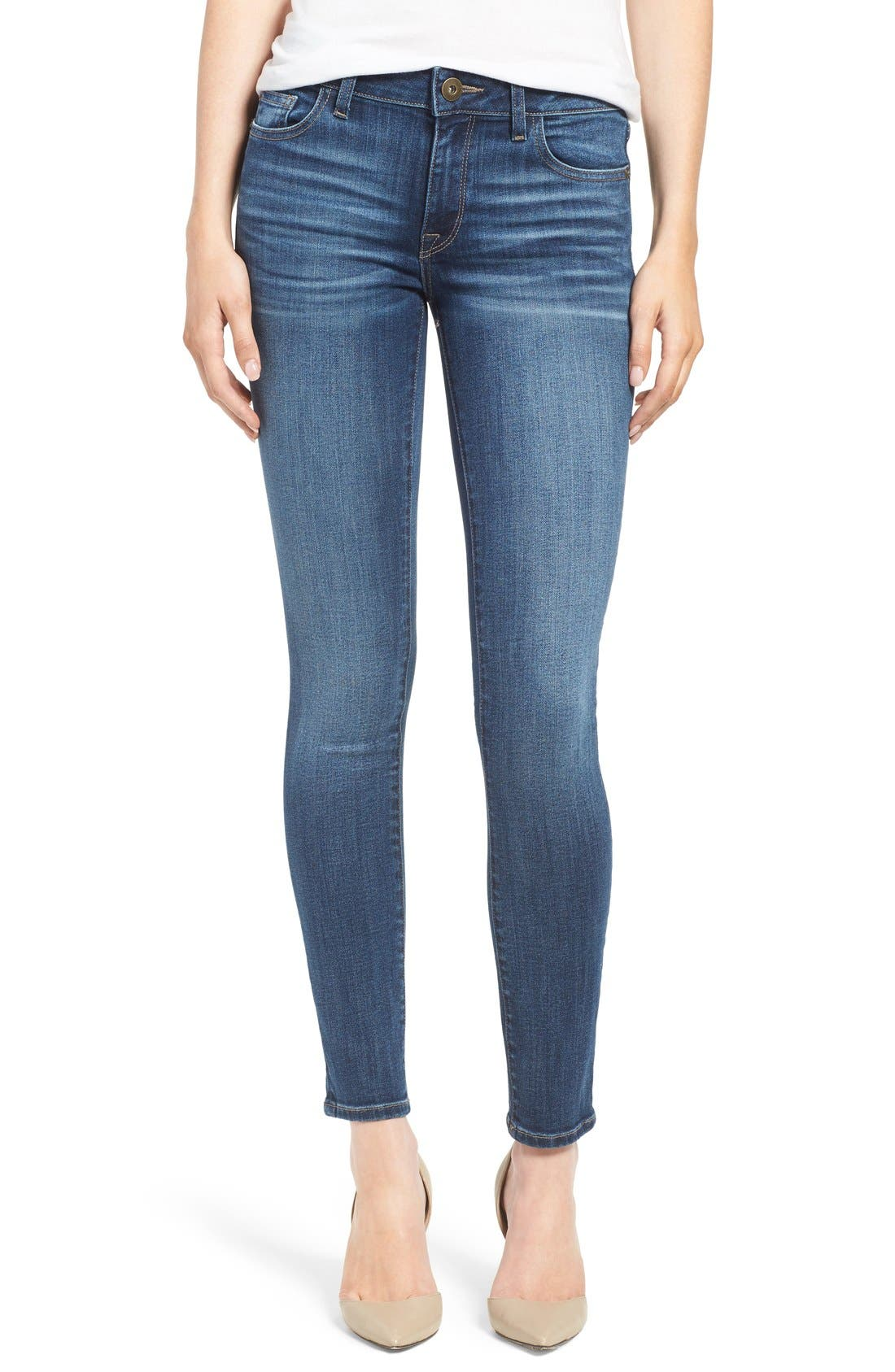 Main Image - DL1961 'Florence' Skinny Jeans (Athena)