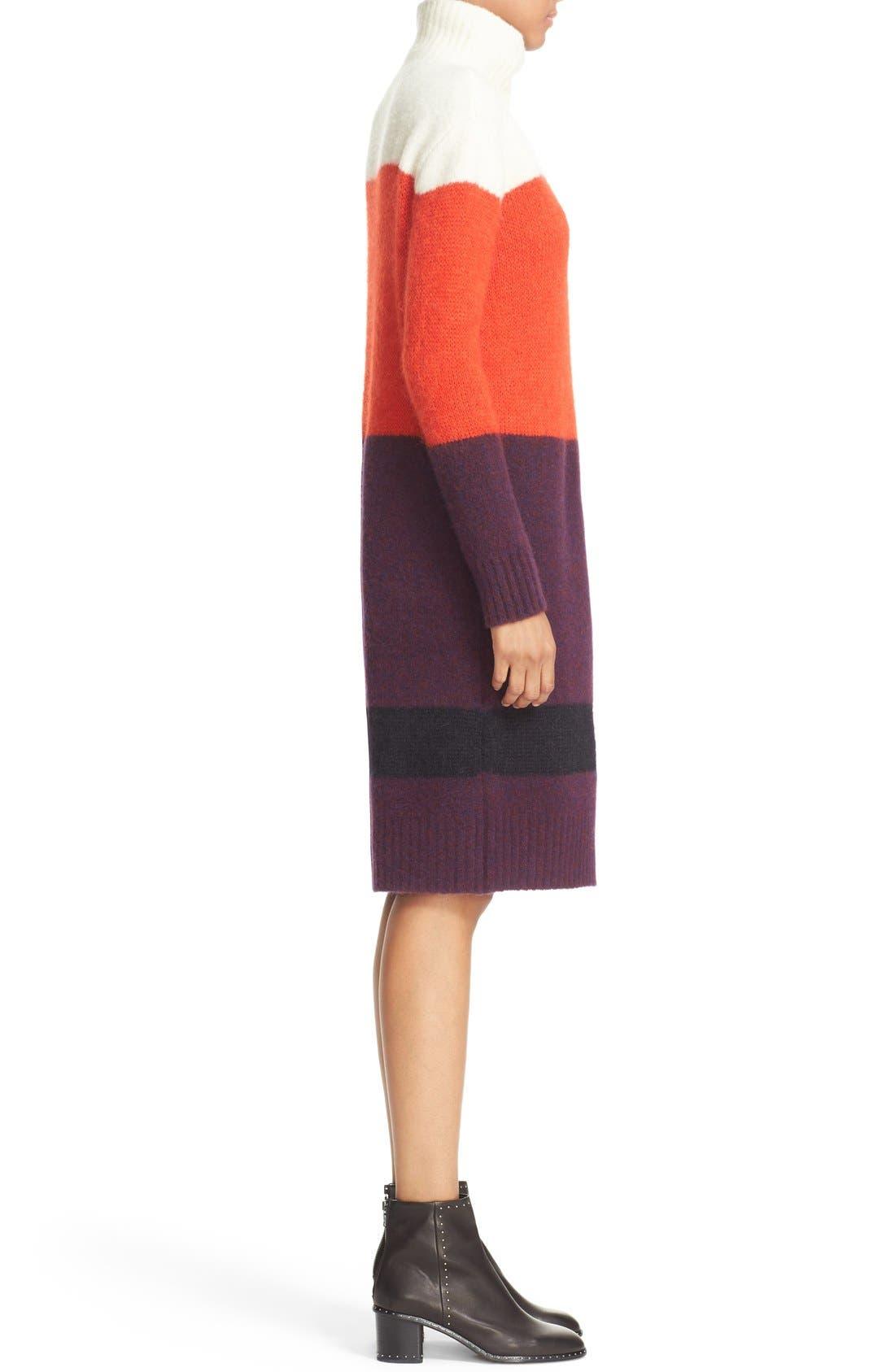 Alternate Image 3  - rag & bone 'Britton' Stripe Wool Blend Sweater Dress