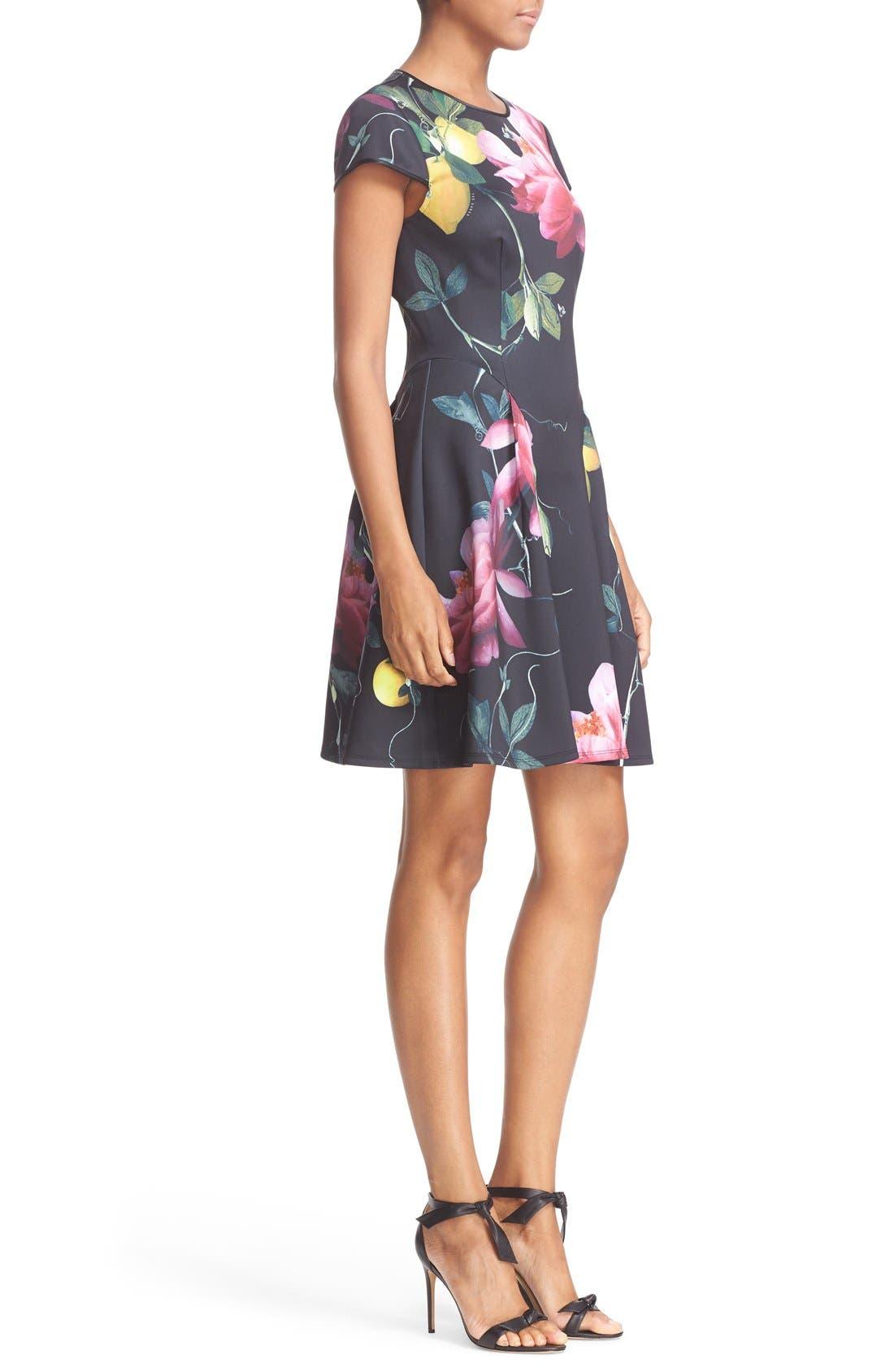 Alternate Image 3  - Ted Baker London 'Allisia' Print Skater Dress