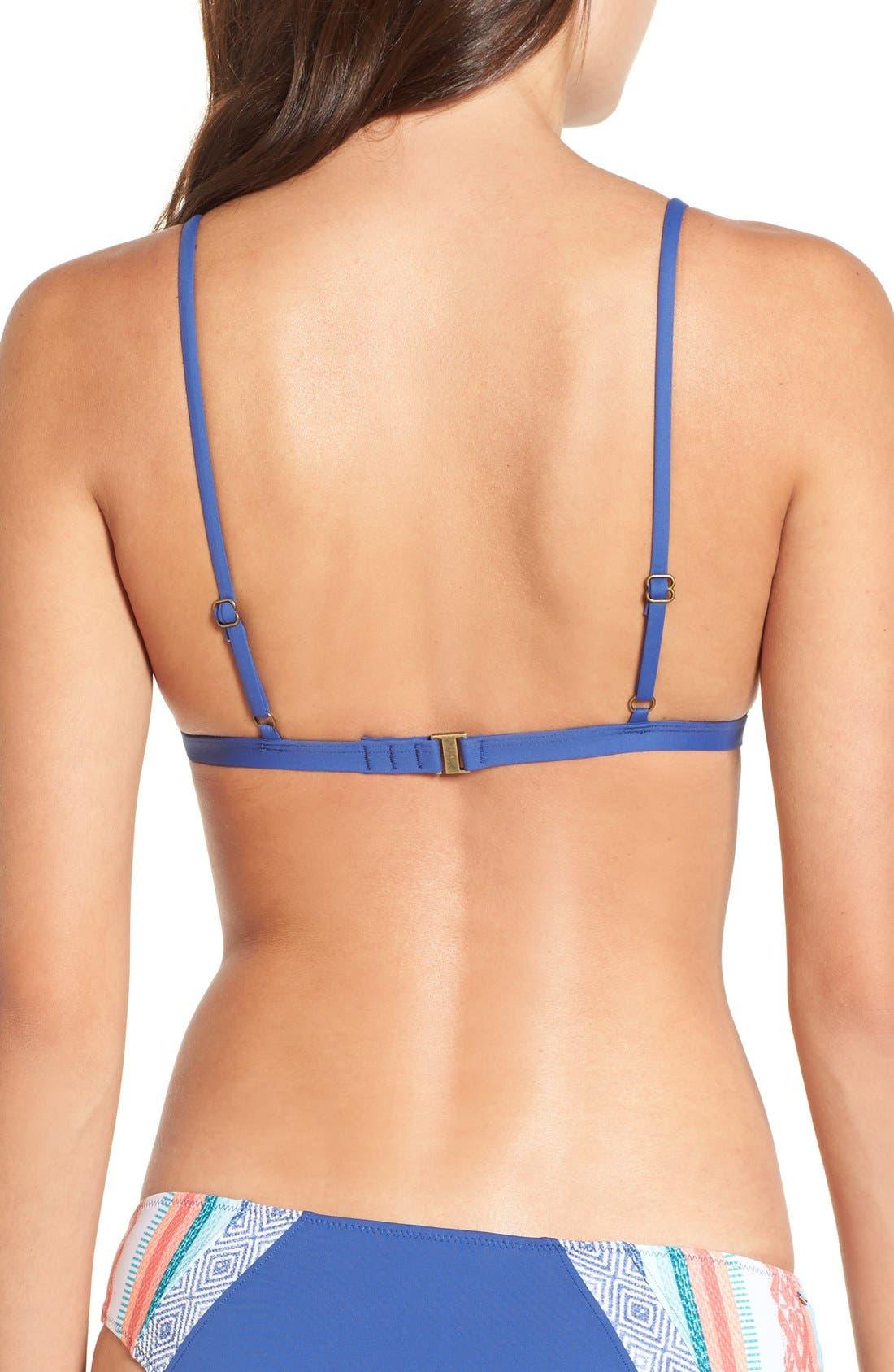 Alternate Image 2  - Rip Curl Sun Stripe Triangle Bikini Top