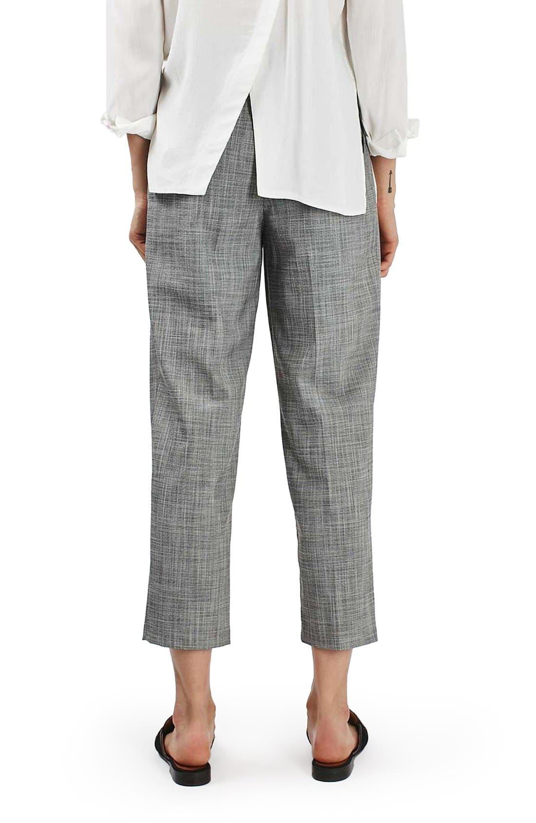 Alternate Image 3  - Topshop Crosshatch Crop Trousers