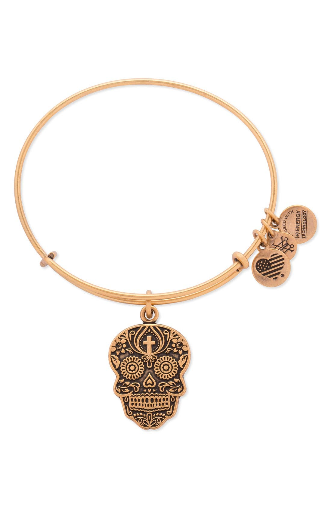 ALEX AND ANI 'Calavera' Adjustable Wire Bangle