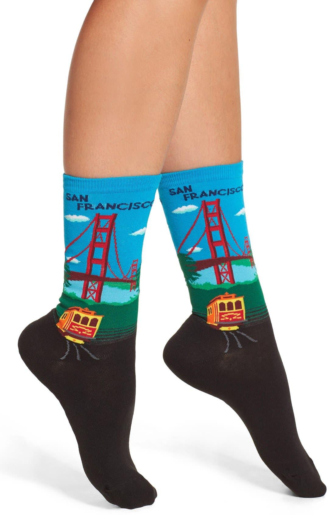 Hot Socks Golden Gate Bridge Pattern Socks