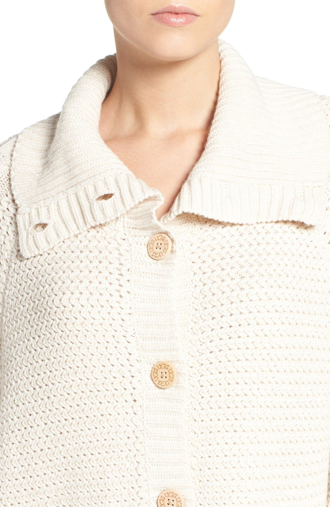 Alternate Image 4  - UGG® 'Maribeth' Cable Knit Cocoon Sweater