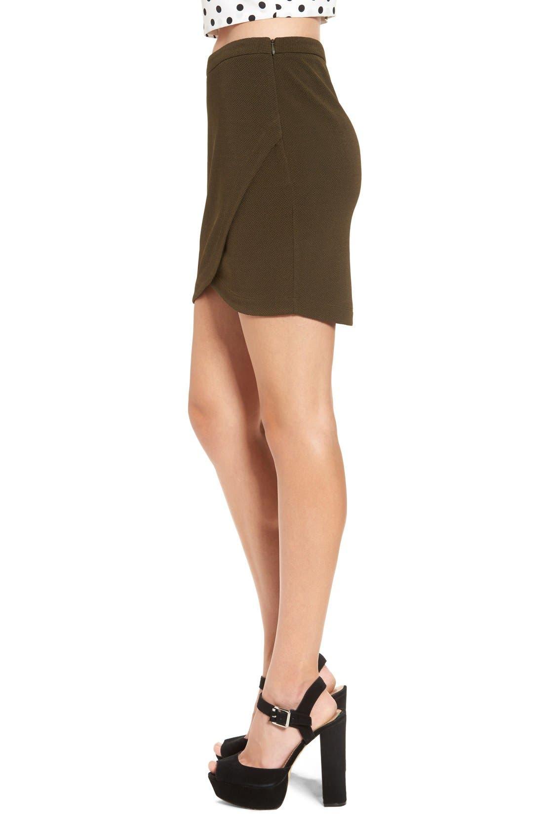 Alternate Image 3  - June & Hudson Piqué Wrap Front Miniskirt