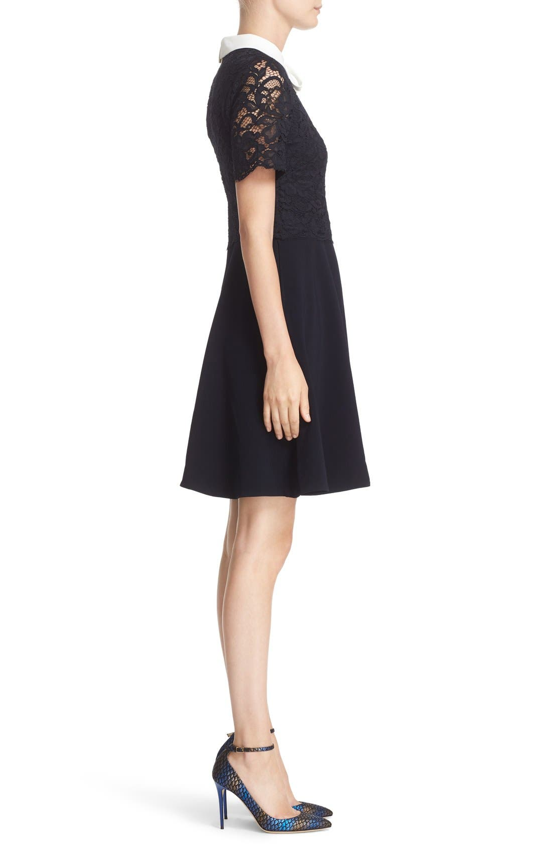 Alternate Image 3  - Ted Baker London 'Dixxy' Contrast Trim Lace Bodice Fit & Flare Dress