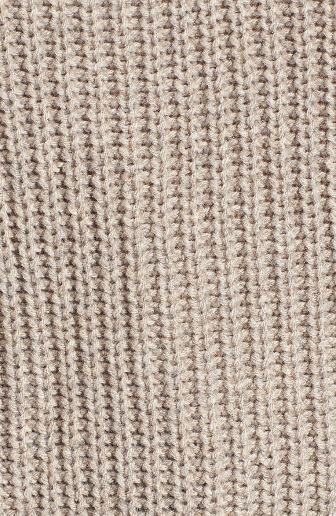 Alternate Image 5  - Leith Ribbed Cold Shoulder Sweater
