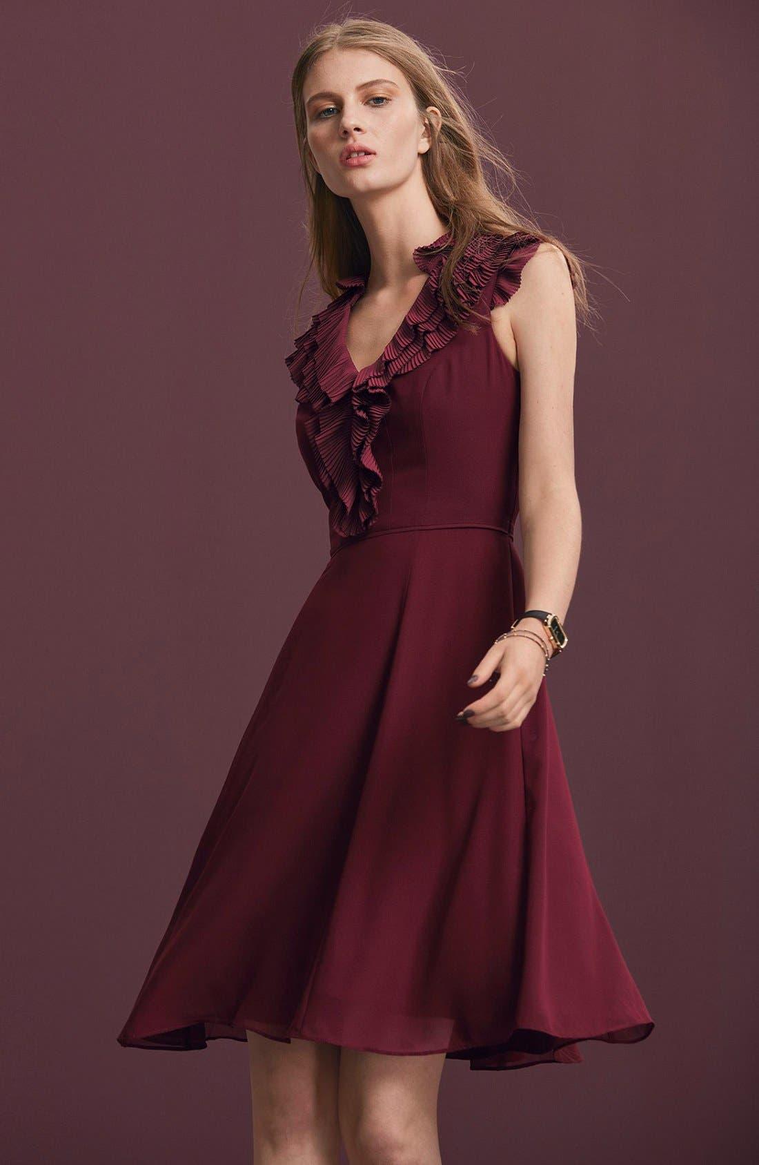 Alternate Image 6  - Adrianna Papell Ruffled A-Line Dress