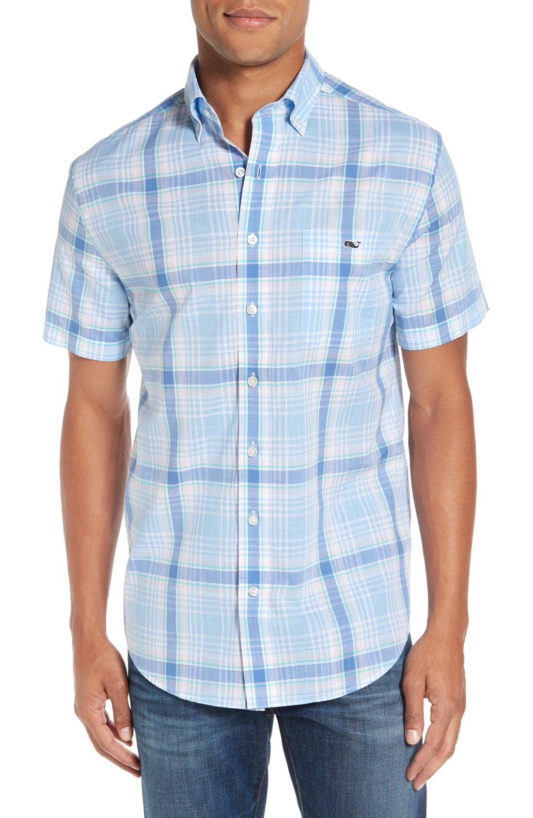 Alternate Image 1 Selected - Vineyard Vines 'Hamblin - Tucker' Regular Fit Plaid Sport Shirt
