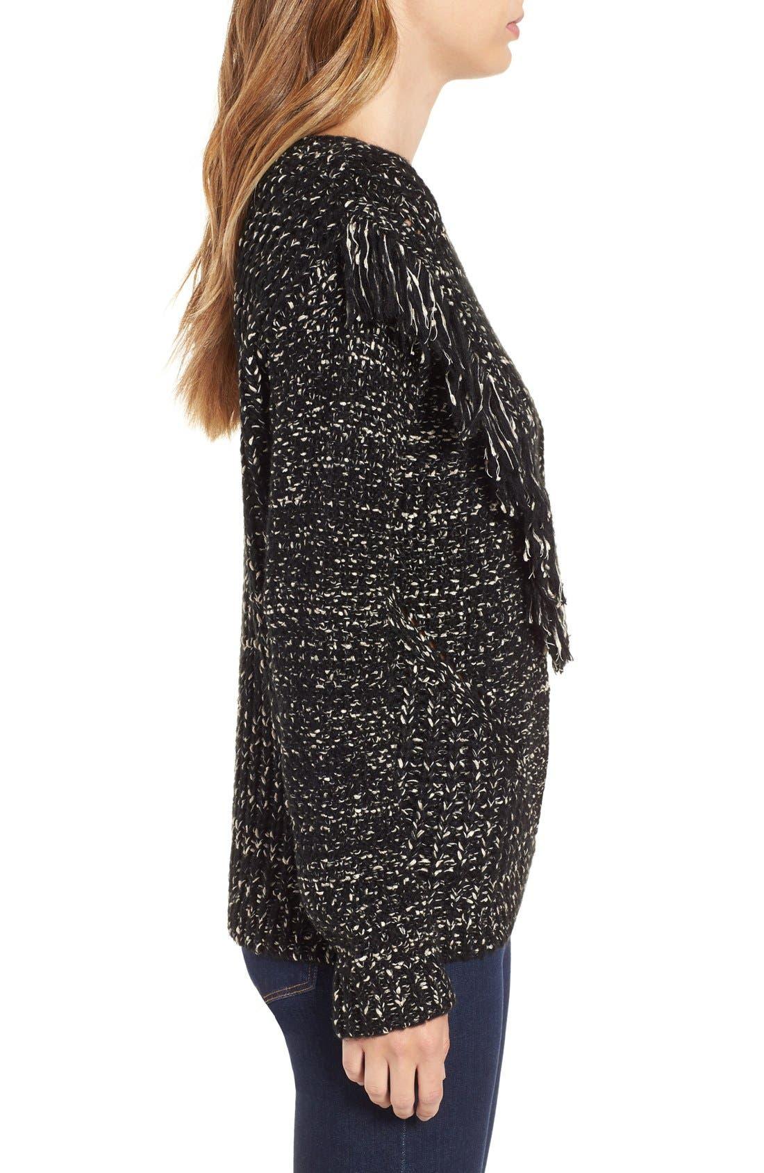 Alternate Image 3  - ASTR 'Marion' Fringe Detail Crewneck Sweater
