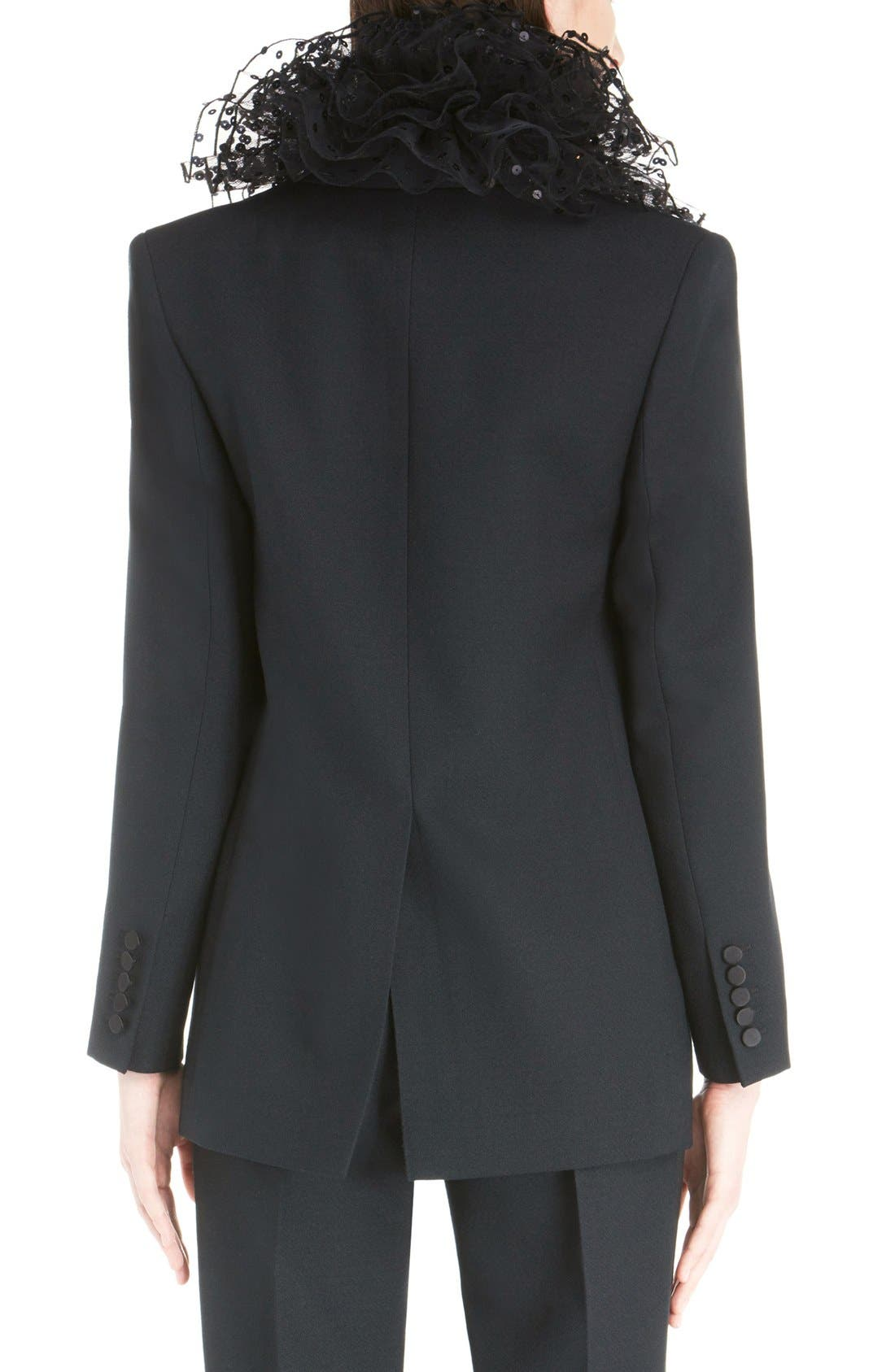 Alternate Image 2  - Saint Laurent One-Button Tuxedo Jacket