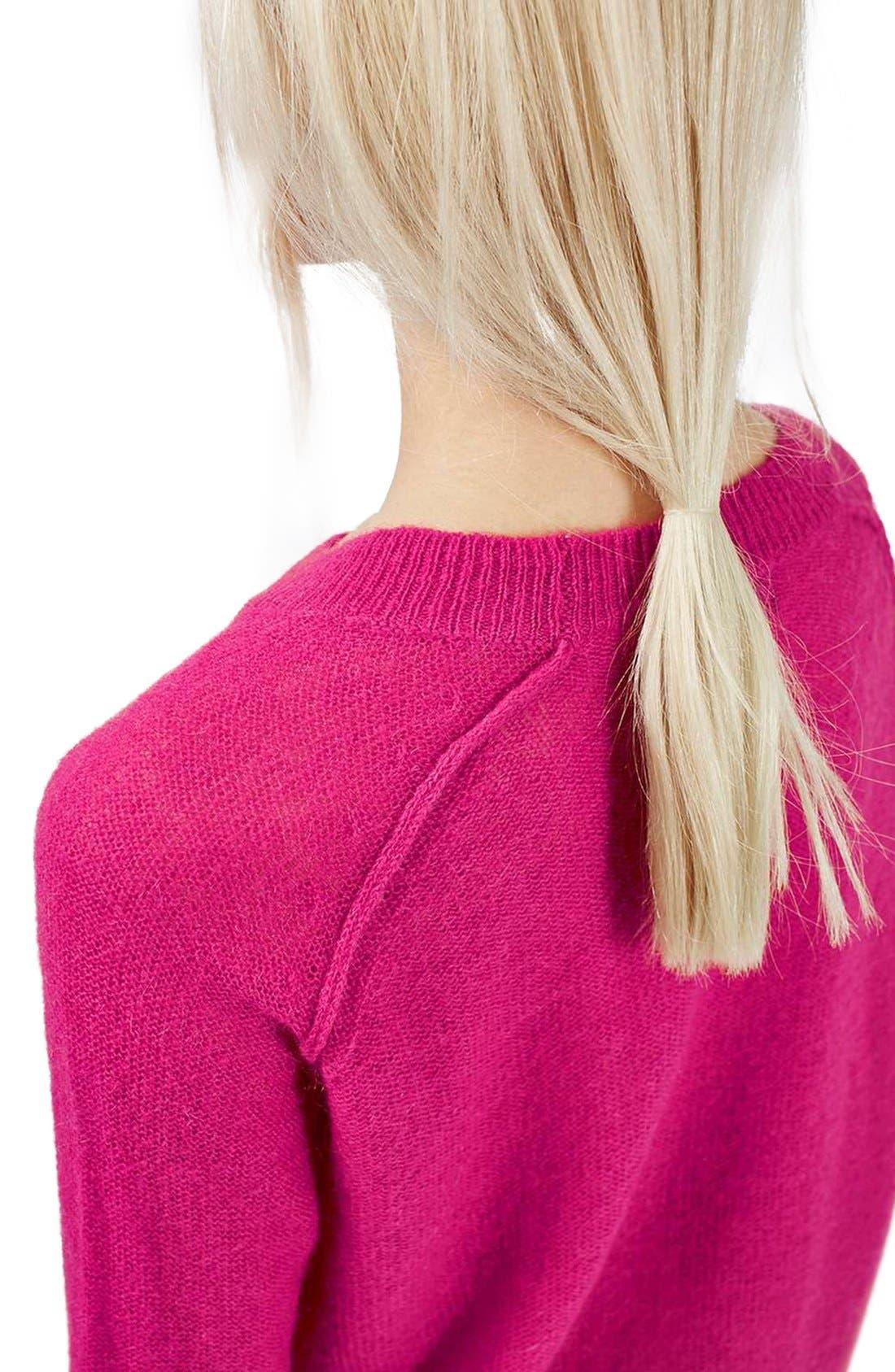 Alternate Image 5  - Topshop Fine Knit Raglan Sweater