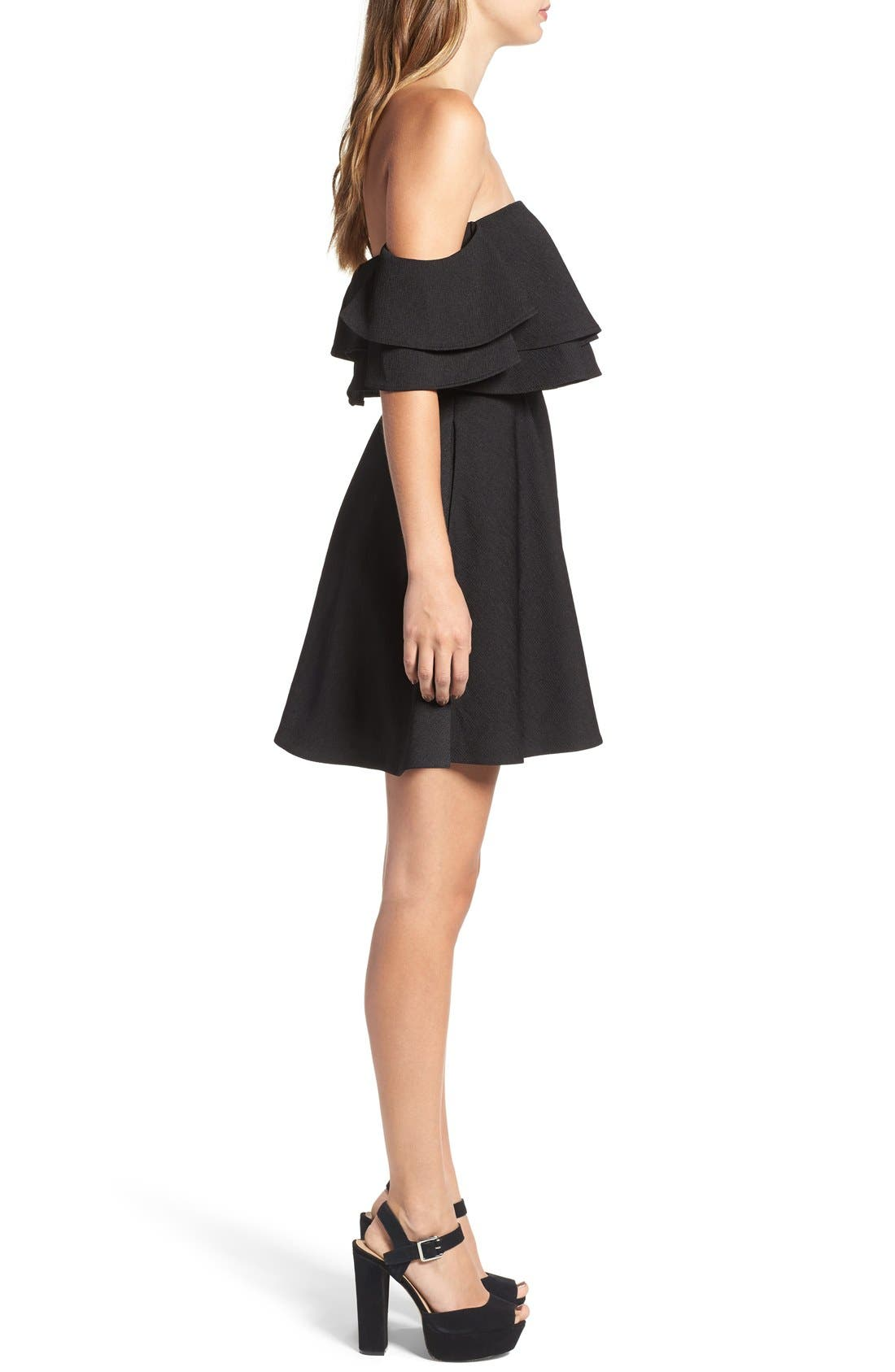 Alternate Image 4  - Keepsake the Label 'Two Fold' Off the Shoulder Minidress