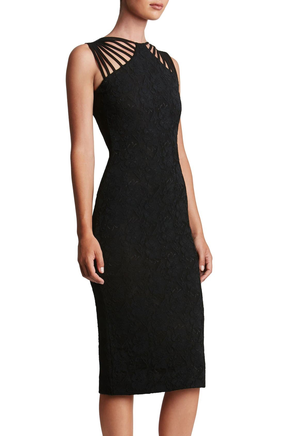 Alternate Image 1 Selected - Dress the Population Gwen Lace Midi Dress