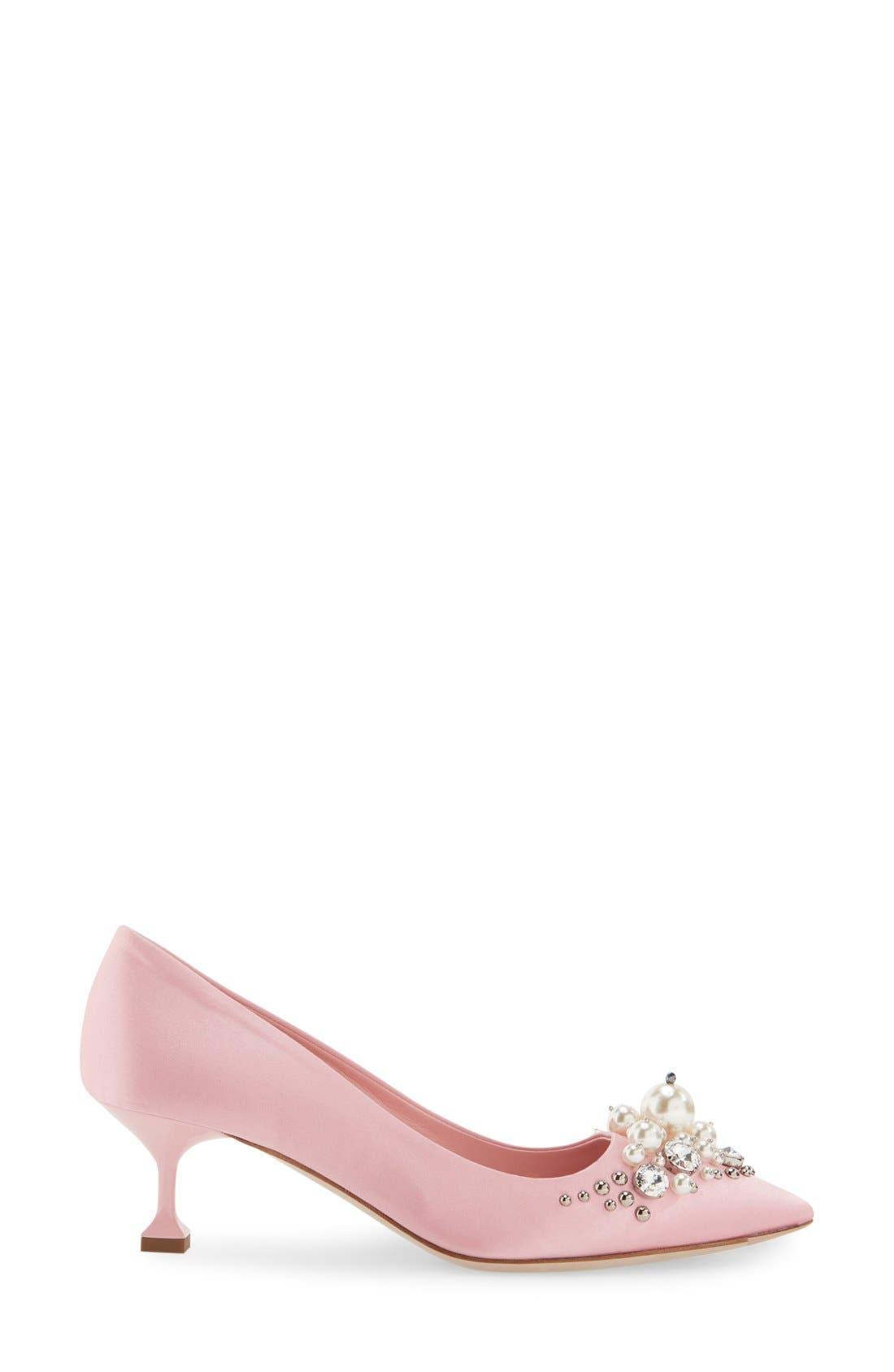 Alternate Image 4  - Miu Miu Embellished Pointy Toe Pump (Women)