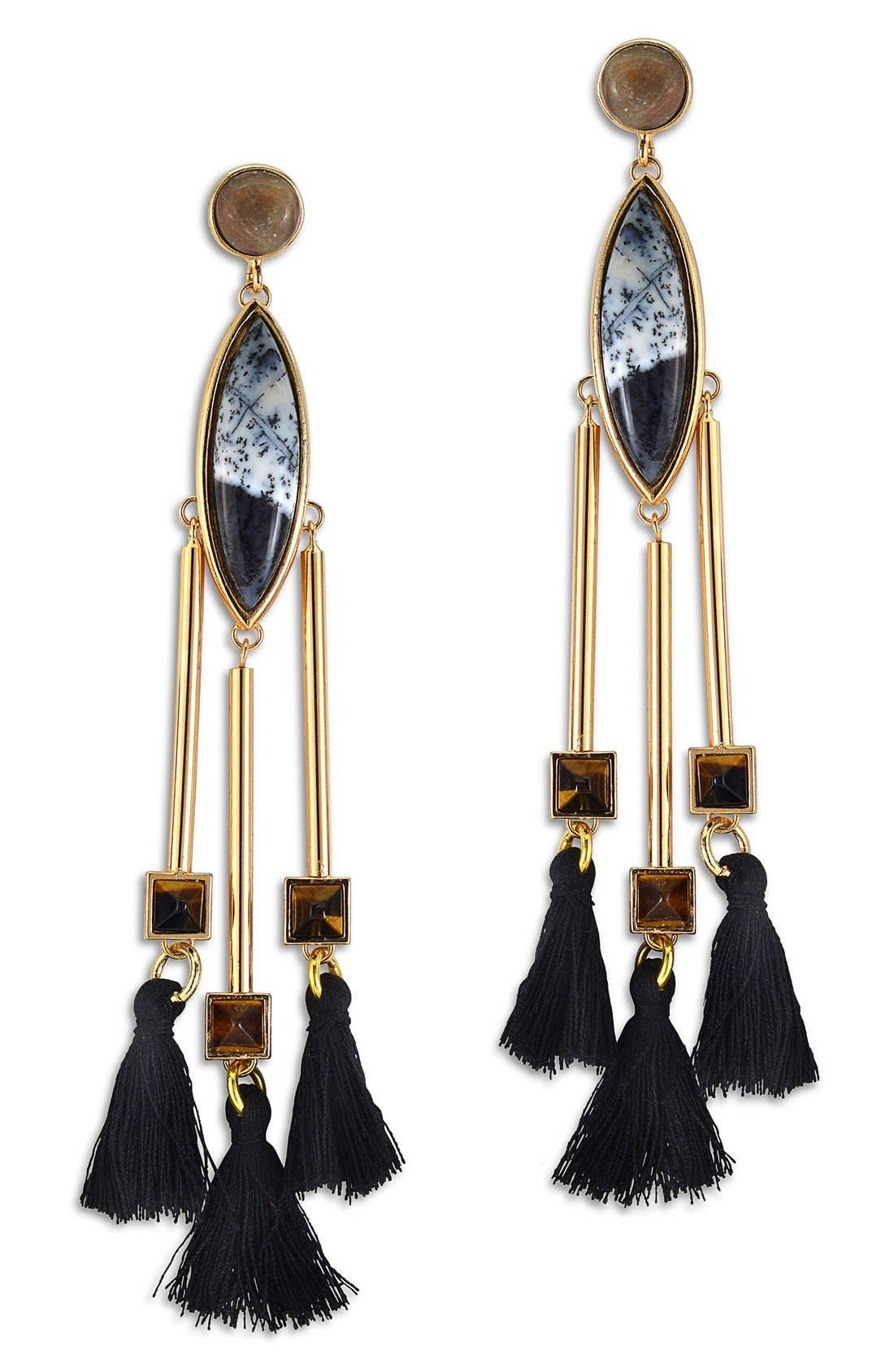 Alternate Image 1 Selected - Natalie Waldman 'Pyramid' Drop Earrings