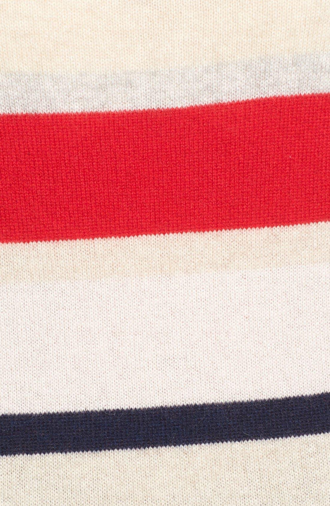 Alternate Image 6  - Halogen® Patterned Cashmere Sweater (Regular & Petite)