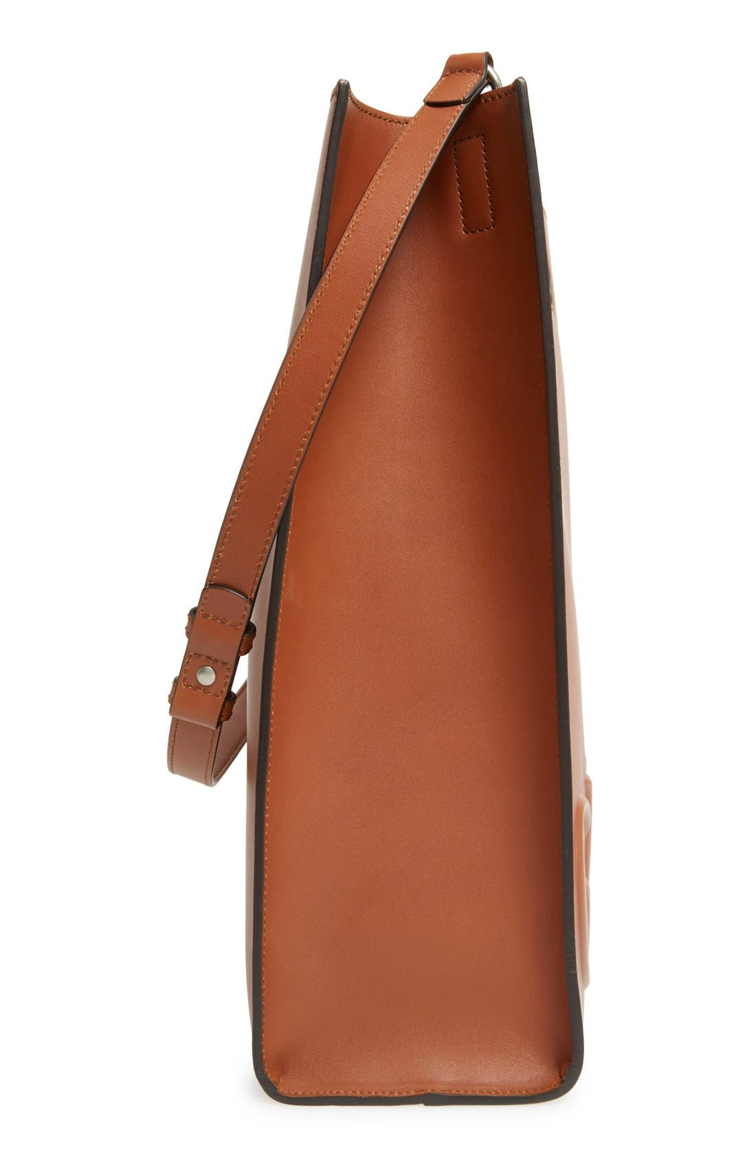 Alternate Image 4  - Gucci Embossed Calf Leather Tote