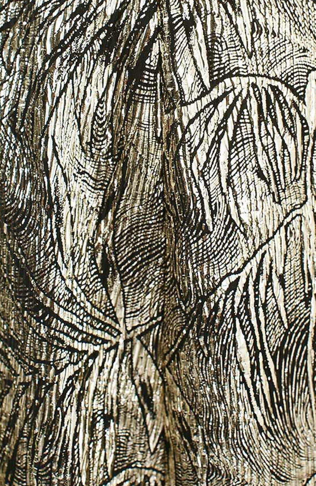Alternate Image 6  - Topshop Foil Leaf Print Plissé Romper