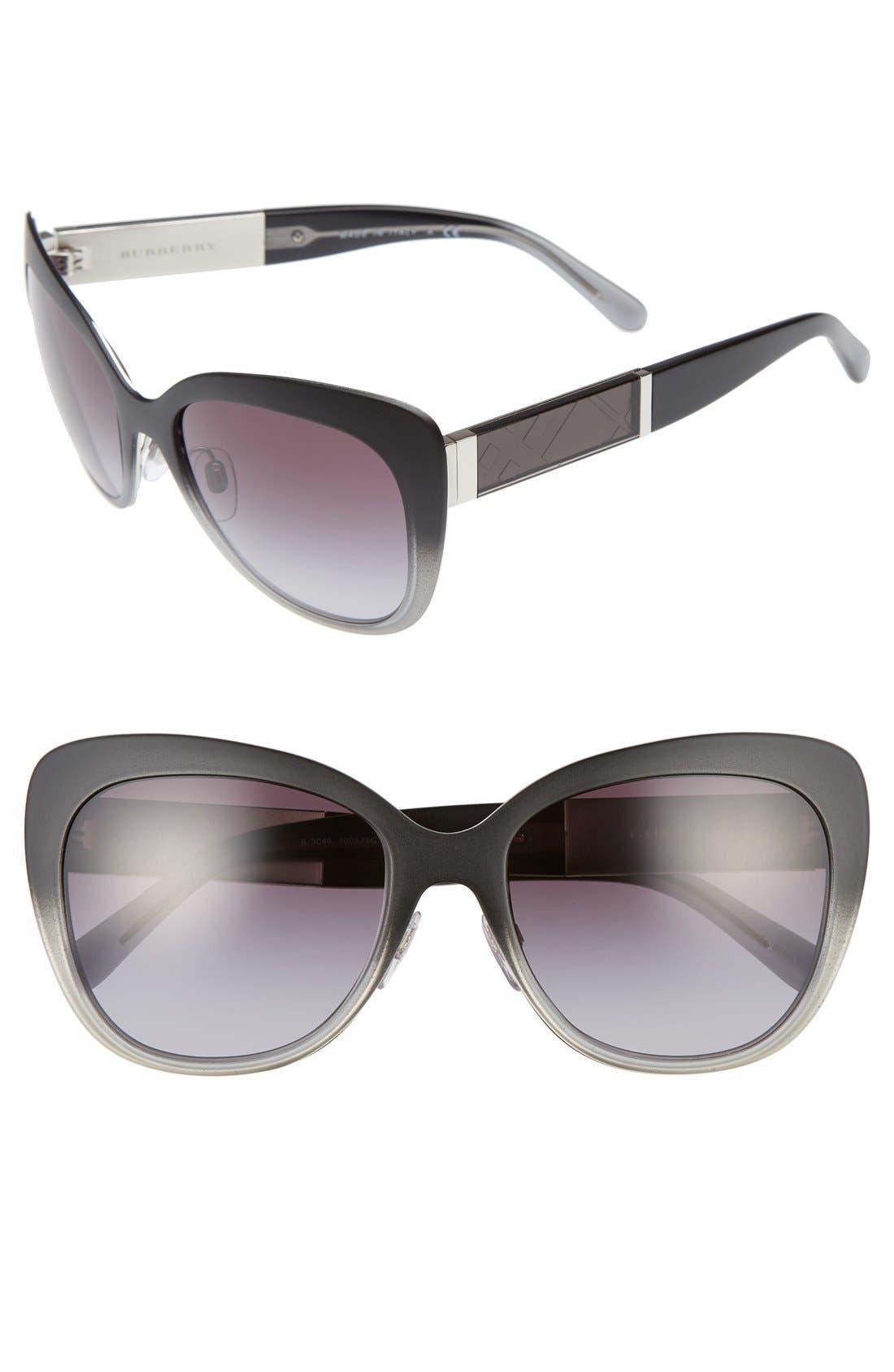 Main Image - Burberry 57mm Cat Eye Sunglasses