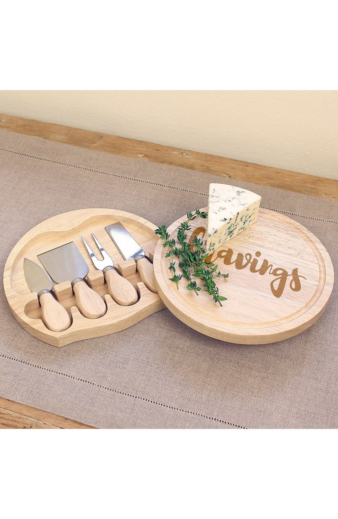 Main Image - Cathy's Concepts 'Cravings' 5-Piece Cheese Board & Utensil Set
