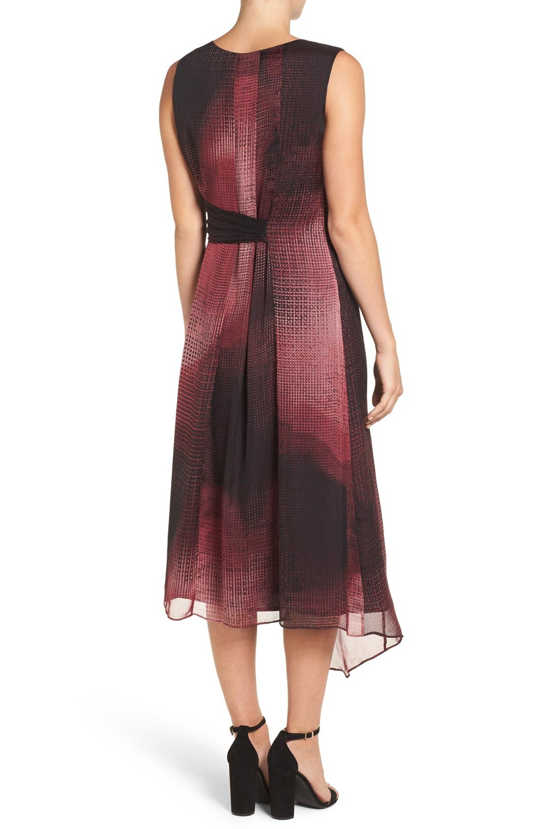 Alternate Image 2  - NIC+ZOE 'Digital Age' Print Silk Midi Dress