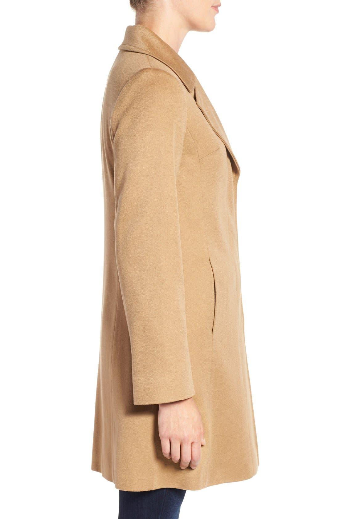 Alternate Image 3  - Fleurette Notch Collar Lightweight Cashmere Coat