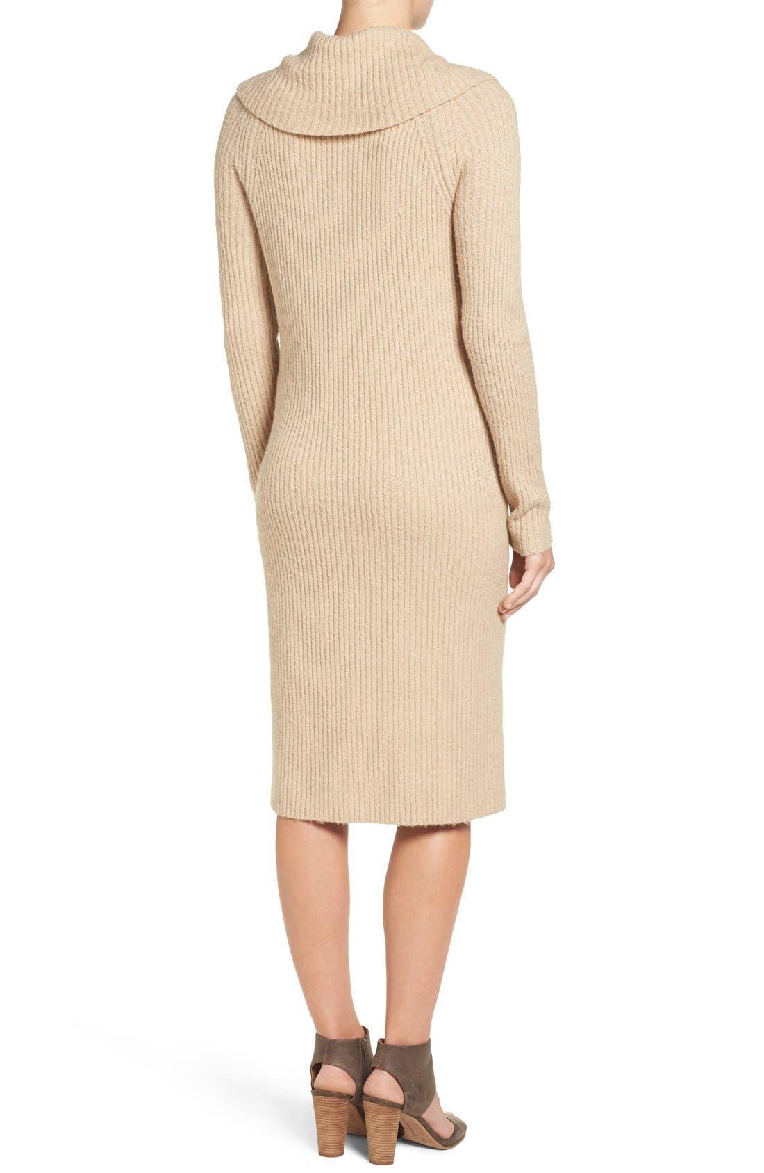 Alternate Image 3  - Halogen® Cowl Neck Sweater Dress (Regular & Petite)
