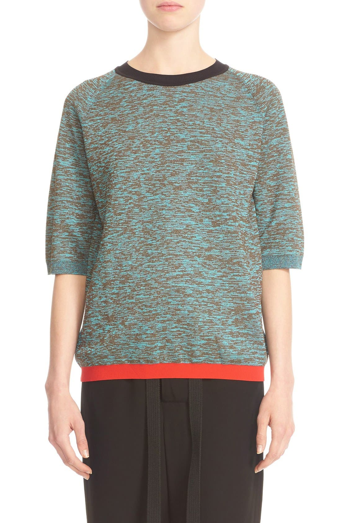 MARNI Contrast Trim Wool Blend Sweater