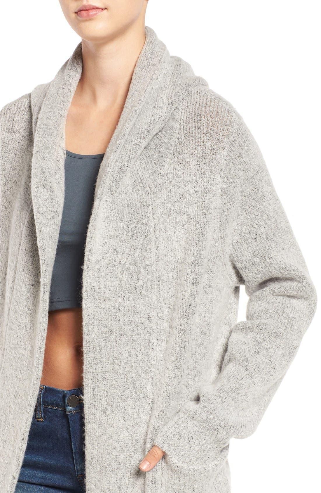 Alternate Image 4  - BLANKNYC 'Textationship' Knit Hooded Cardigan