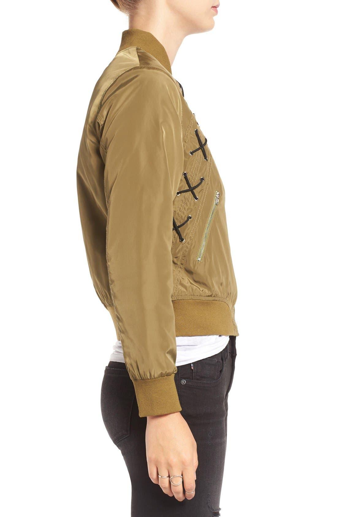 Alternate Image 3  - Elodie Cross Stitch Bomber Jacket