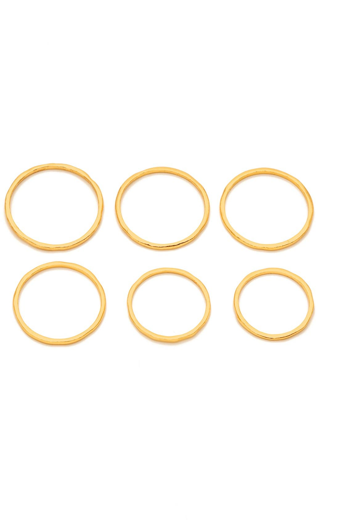 Alternate Image 2  - gorjana 'G' Stacking Rings (Set of 6)