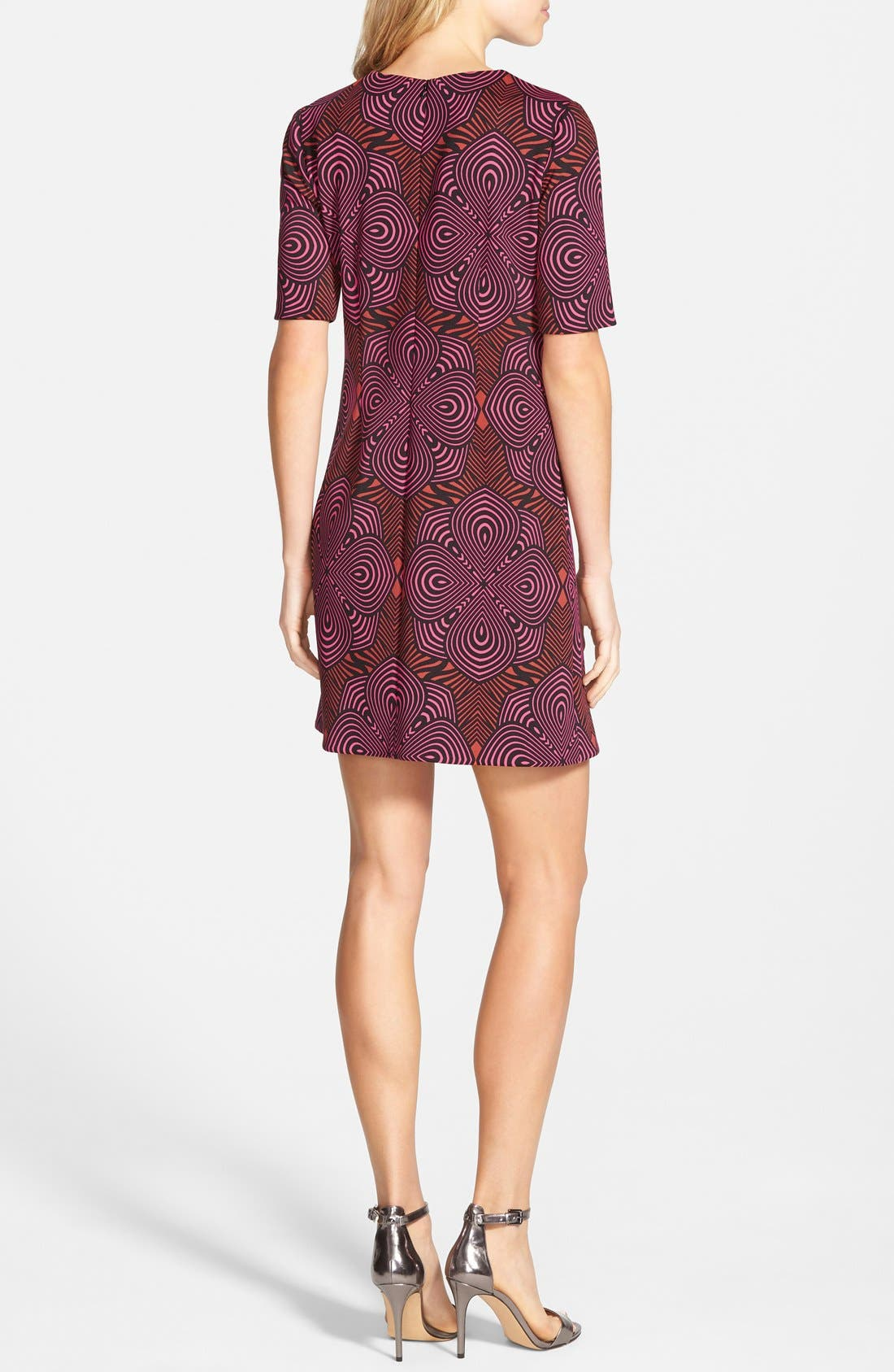 Alternate Image 3  - Taylor Dresses Graphic Print Scuba Shift Dress (Online Only)