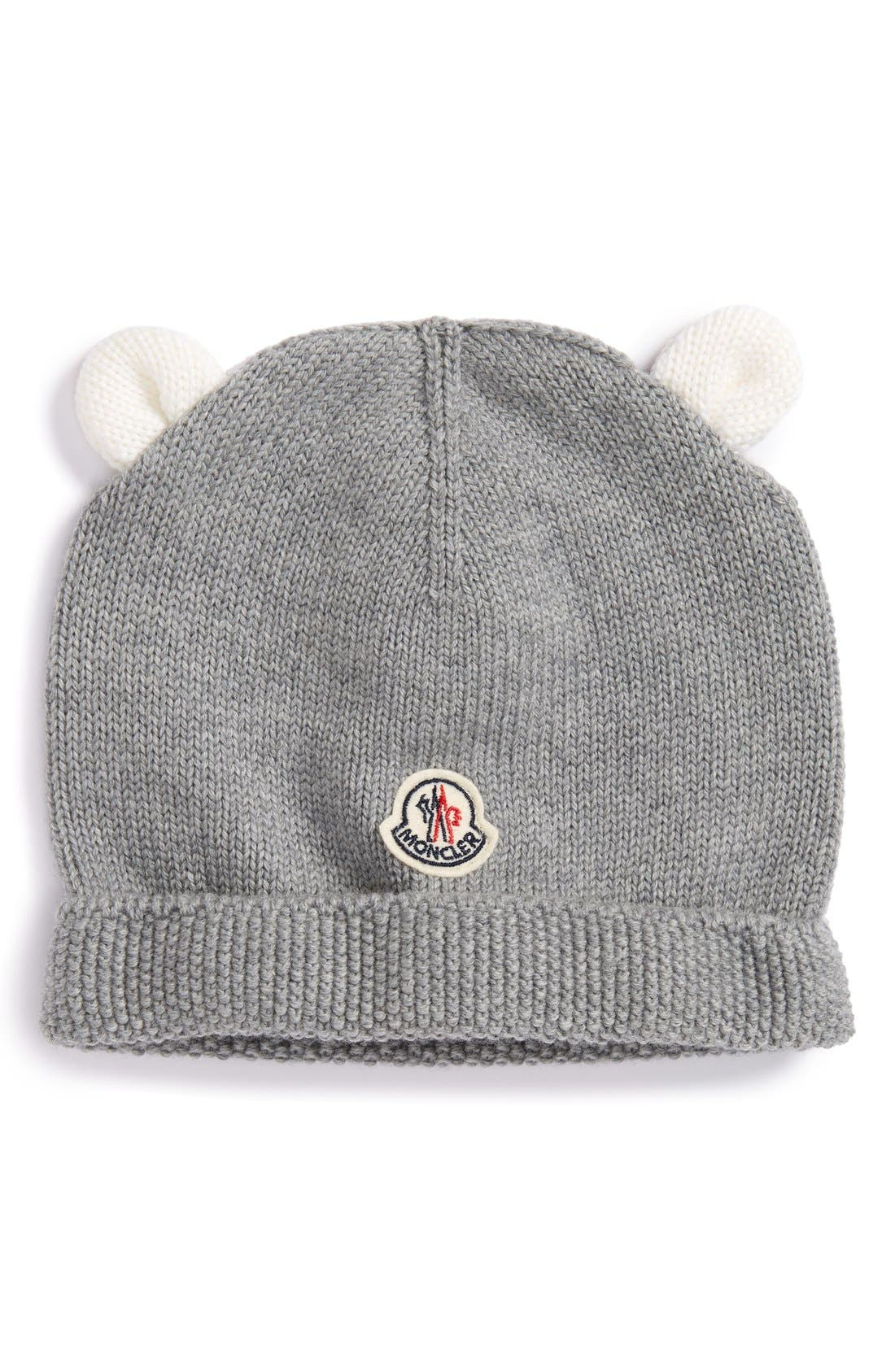 Moncler 'Berretto' Knit Wool Beanie with Ears