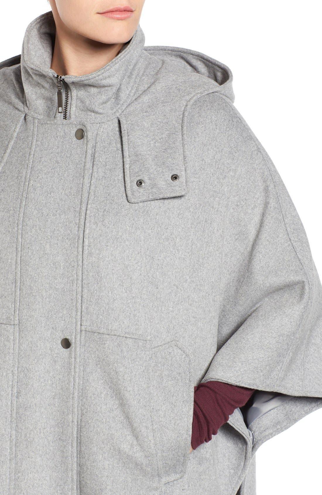 Alternate Image 4  - Halogen® Snap Front Hooded Cape