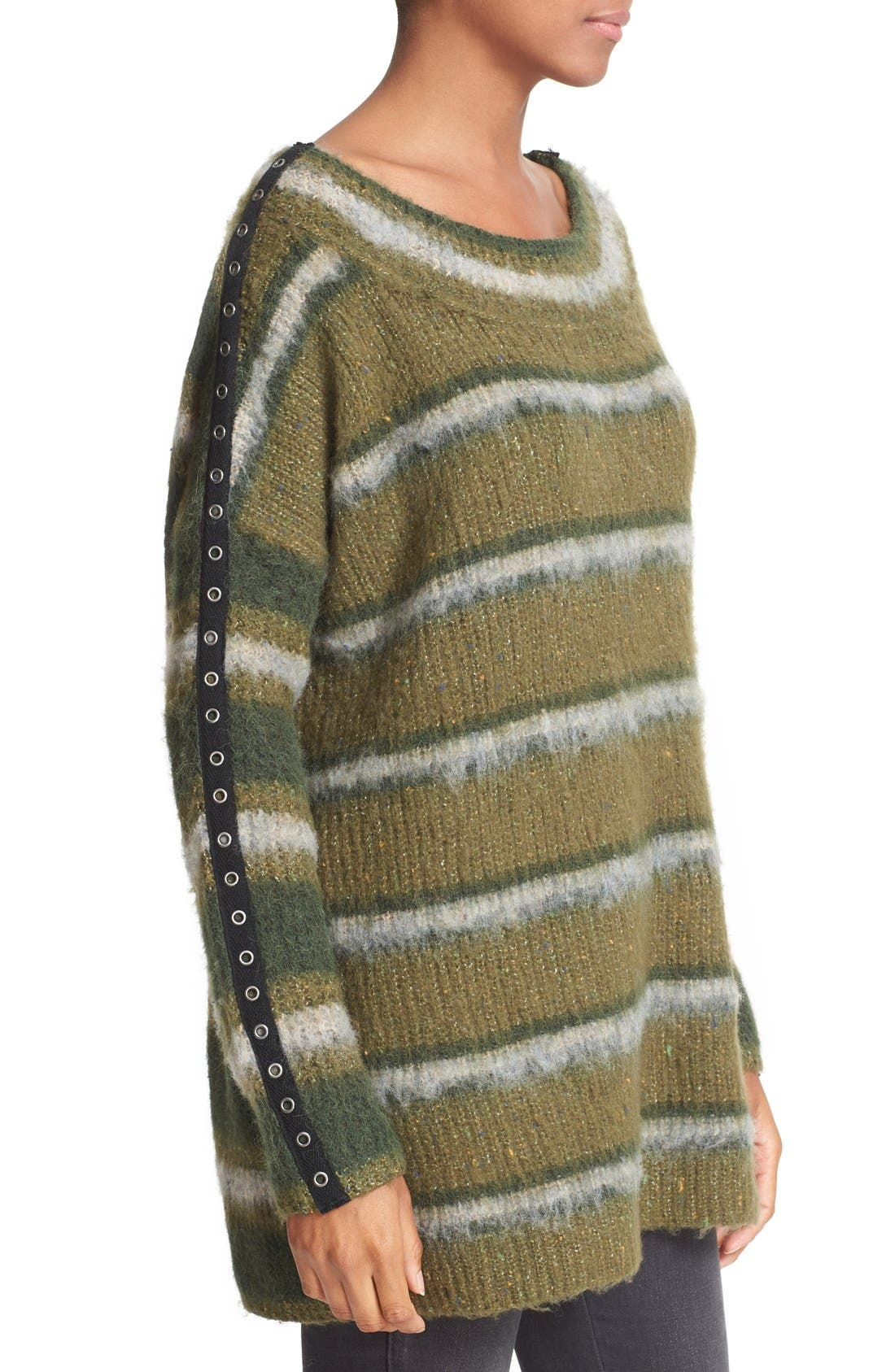 Alternate Image 3  - Free People Stripe Tunic Sweater