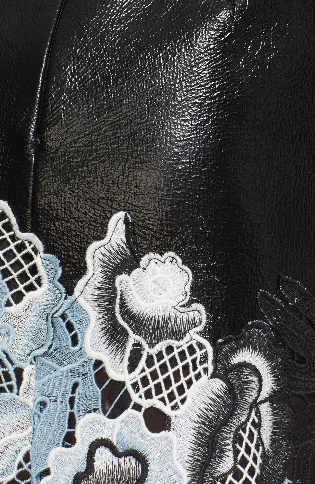 Alternate Image 6  - 3.1 Phillip Lim Lace Trim Crinkle Patent Vinyl Skirt