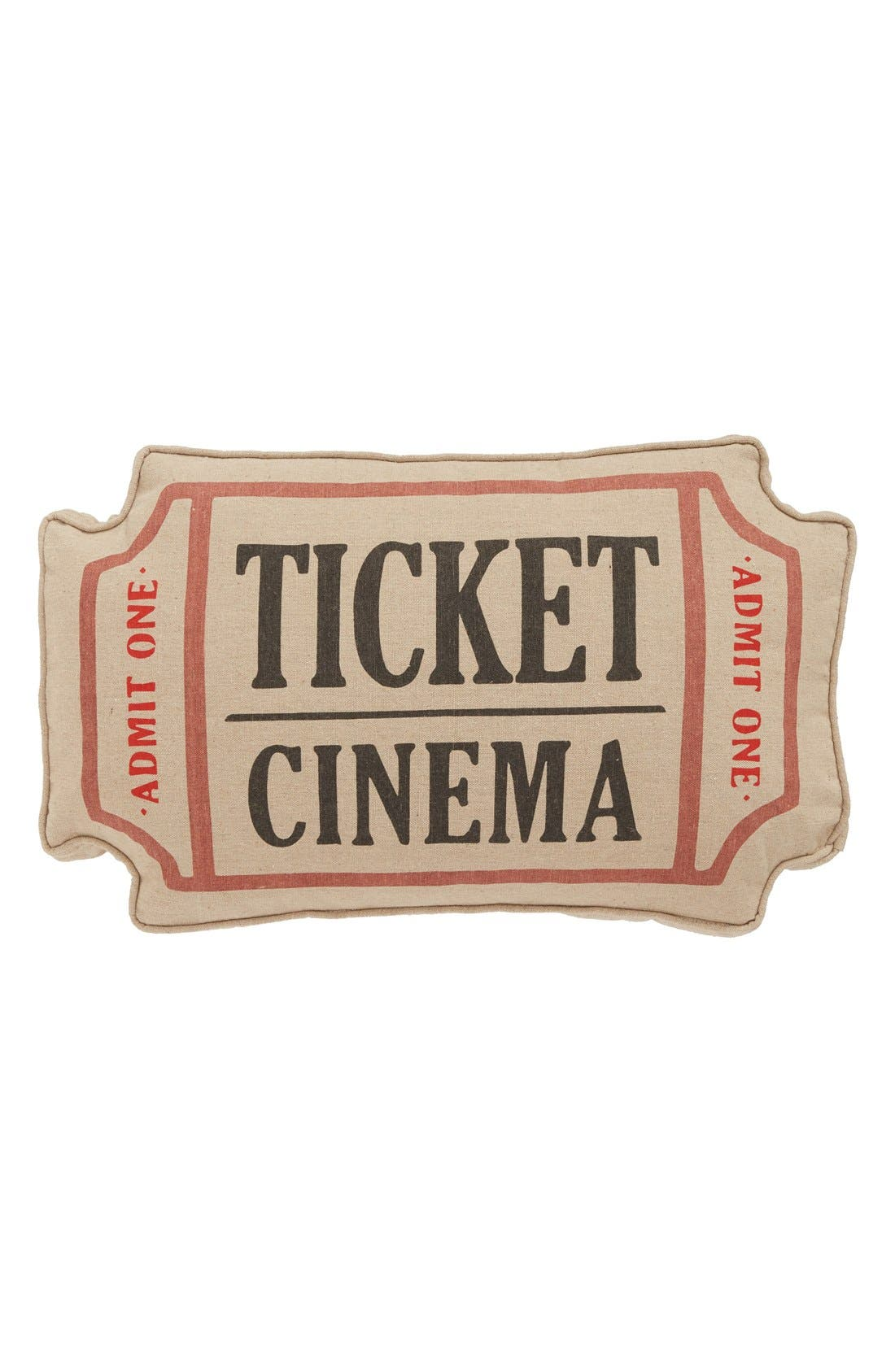 Alternate Image 1 Selected - Levtex 'Cinema Ticket' Accent Pillow