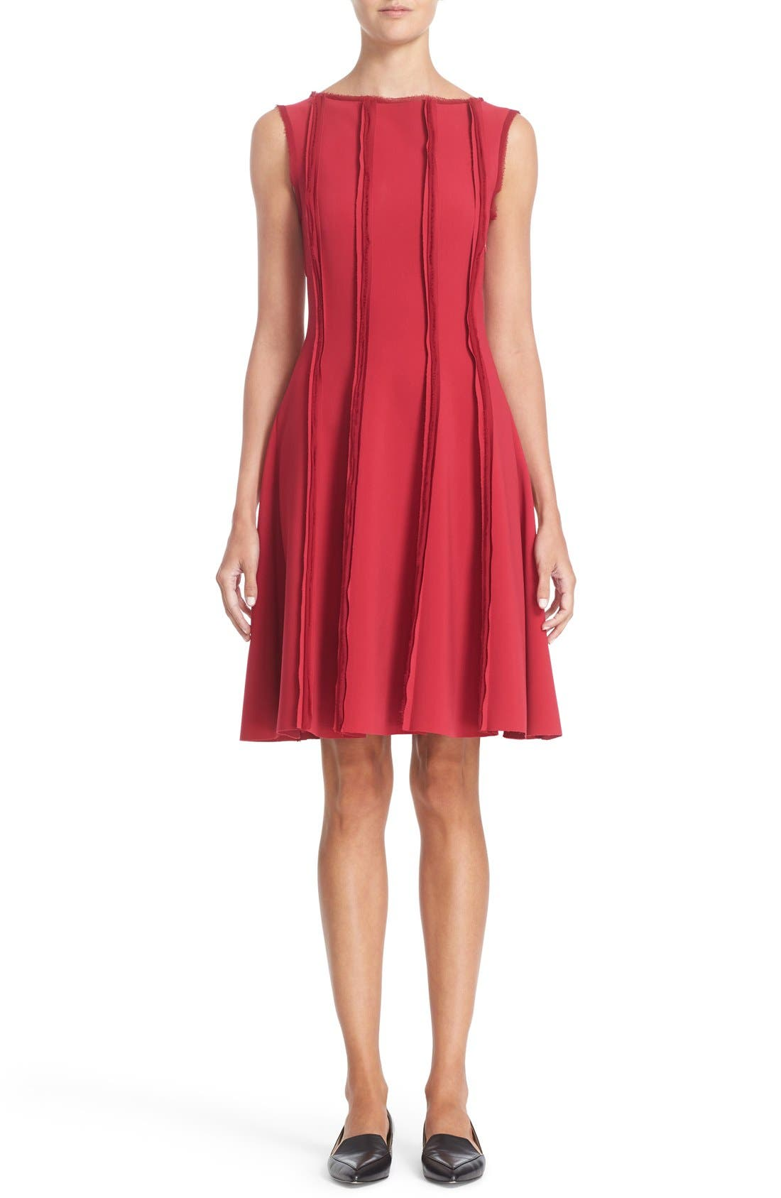 JASON WU Stretch Crepe Fit & Flare Dress