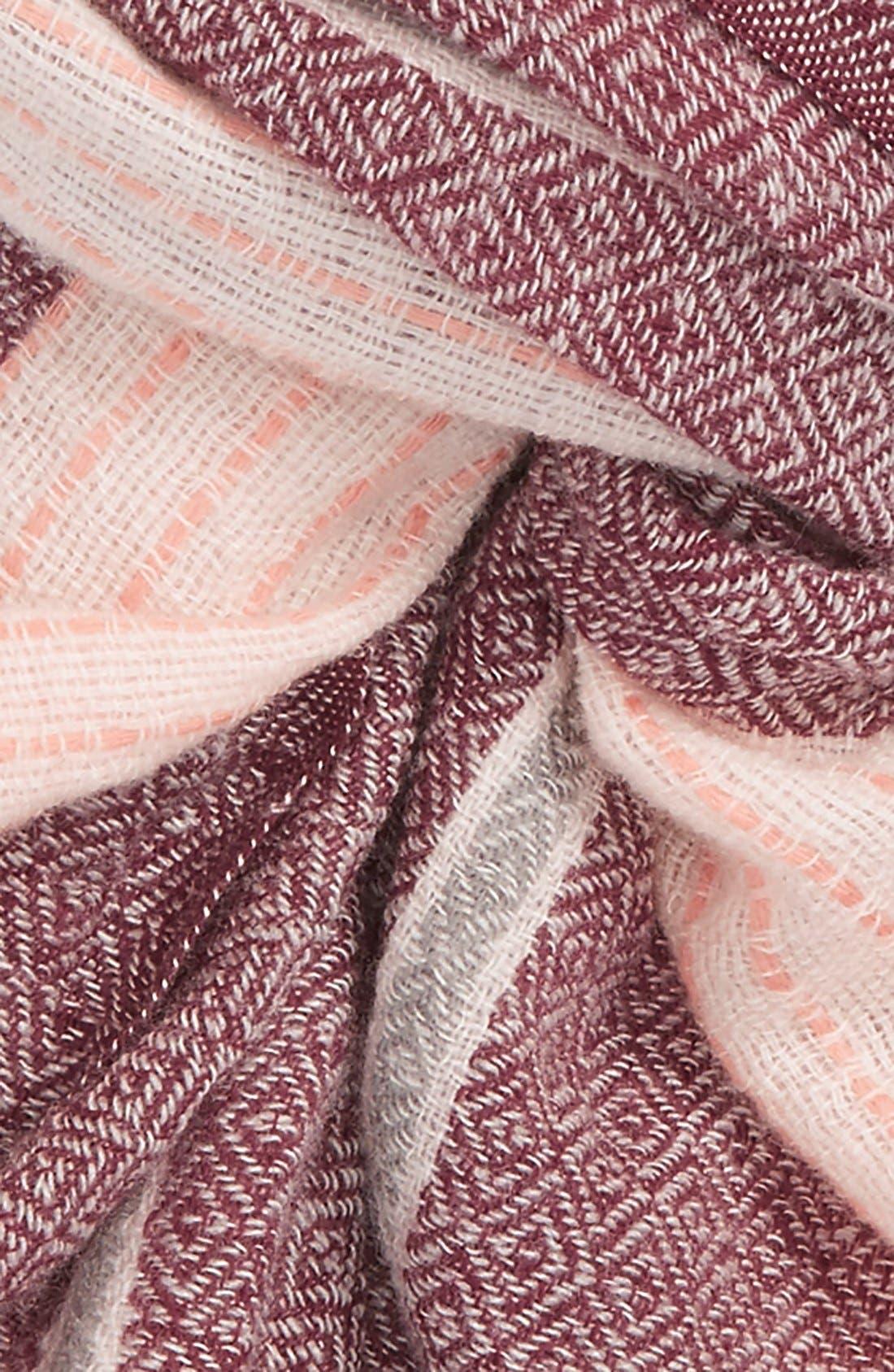 Alternate Image 3  - Caslon® Stripe Wool Scarf