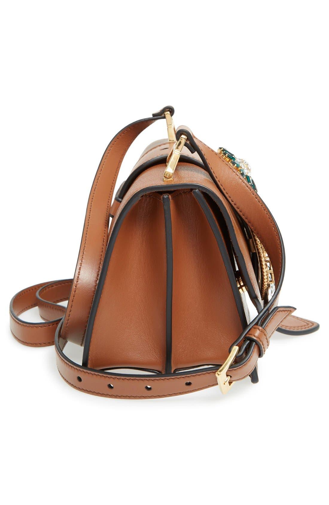 Alternate Image 5  - Miu Miu 'Small Madras' Crystal Embellished Leather Shoulder Bag