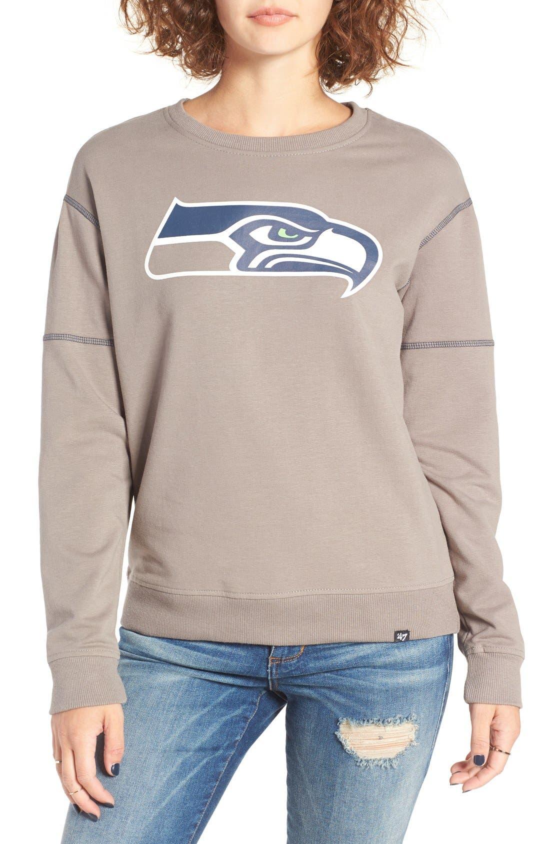 Alternate Image 1 Selected - 47 Brand 'Seattle Seahawks' Graphic Sweatshirt